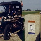 "In 1999, Dr. Alan Hathaway of Iowa drove ""The Ten Millionth"" Ford Model T from New York to San Francisco to celebrate the 75th Anniversary of that car"
